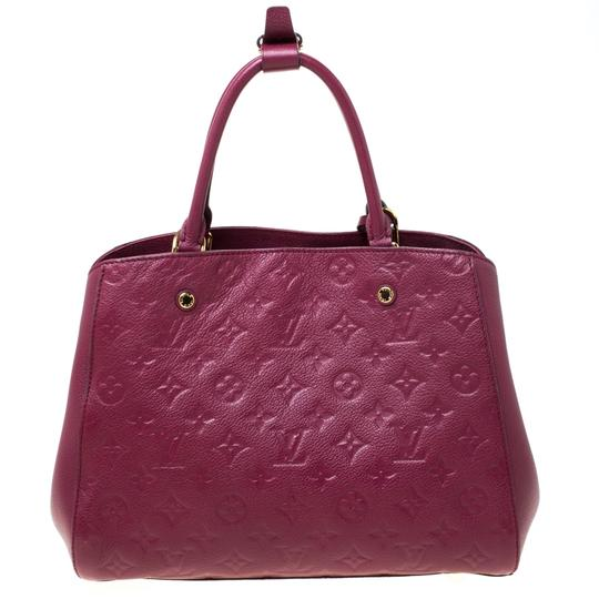 Louis Vuitton Leather Tote in Burgundy Image 1