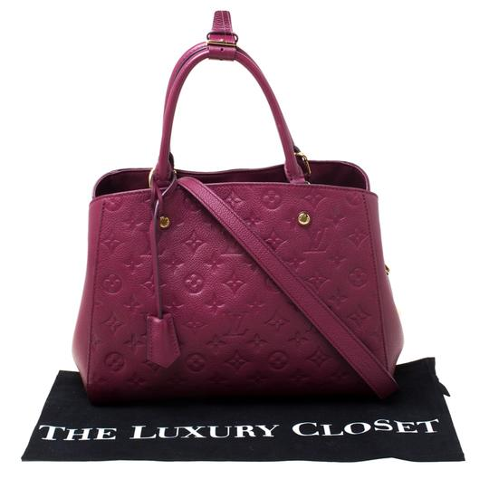 Louis Vuitton Leather Tote in Burgundy Image 11