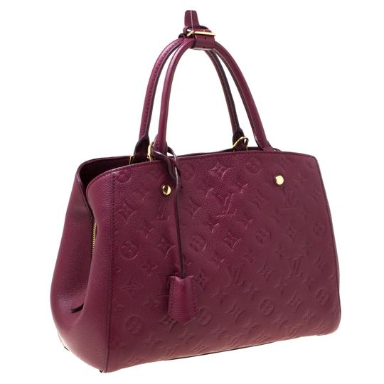 Louis Vuitton Leather Tote in Burgundy Image 3