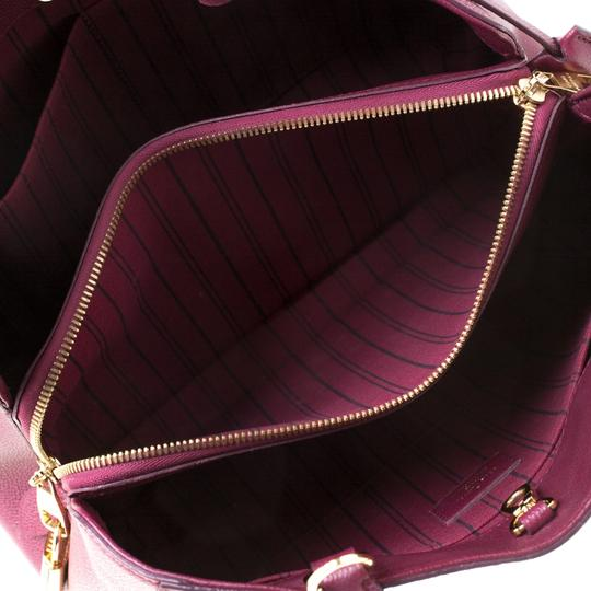 Louis Vuitton Leather Tote in Burgundy Image 5