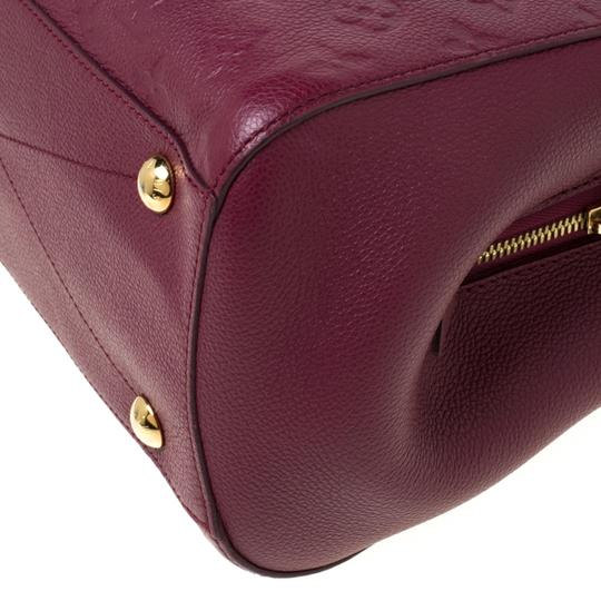 Louis Vuitton Leather Tote in Burgundy Image 7