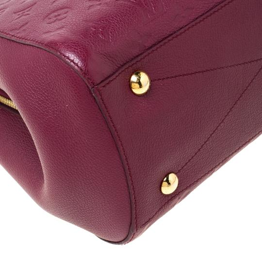 Louis Vuitton Leather Tote in Burgundy Image 8