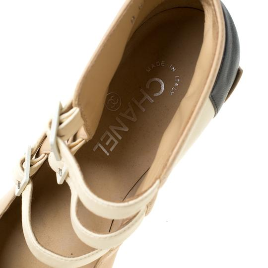 Chanel Leather Strappy Beige Boots Image 5