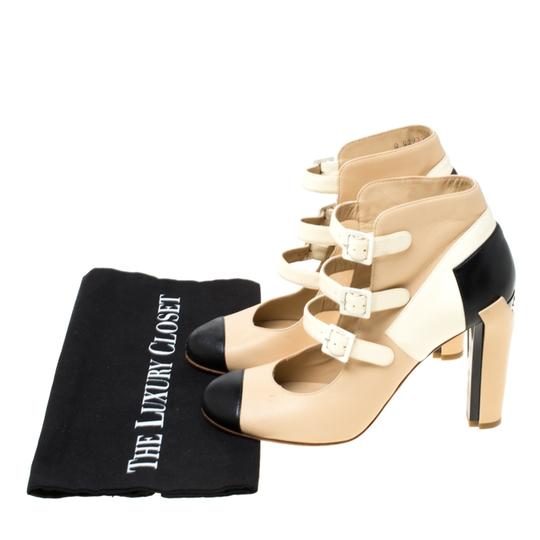 Chanel Leather Strappy Beige Boots Image 7