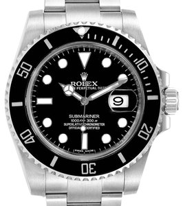 Rolex Rolex Submariner Ceramic Bezel Black Dial Steel Mens Watch 116610