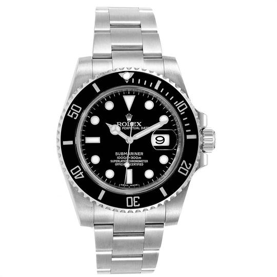 Rolex Rolex Submariner Ceramic Bezel Black Dial Steel Mens Watch 116610 Image 1