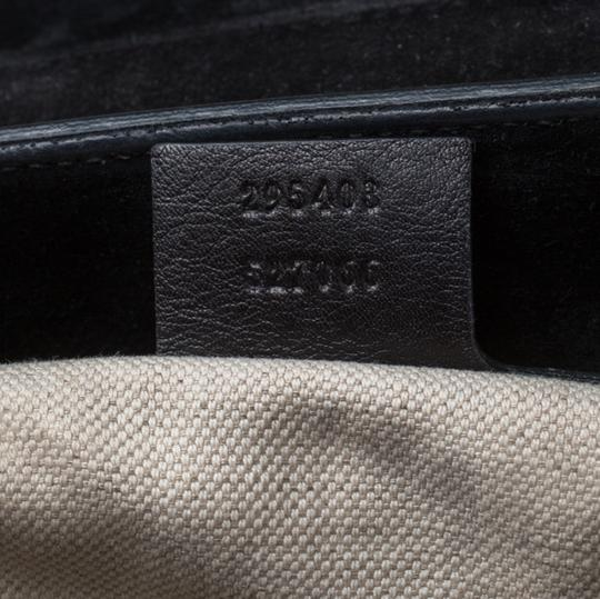 Gucci Patent Leather Canvas Shoulder Bag Image 10