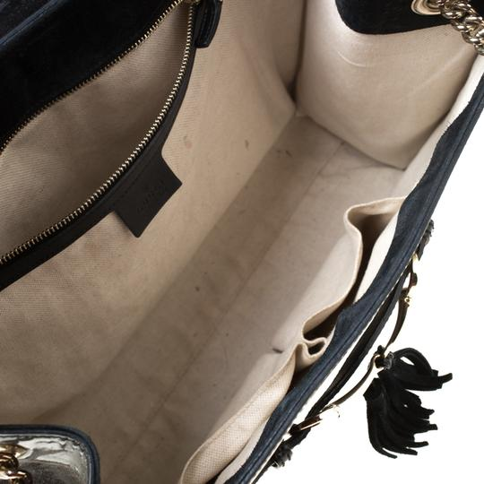Gucci Patent Leather Canvas Shoulder Bag Image 7