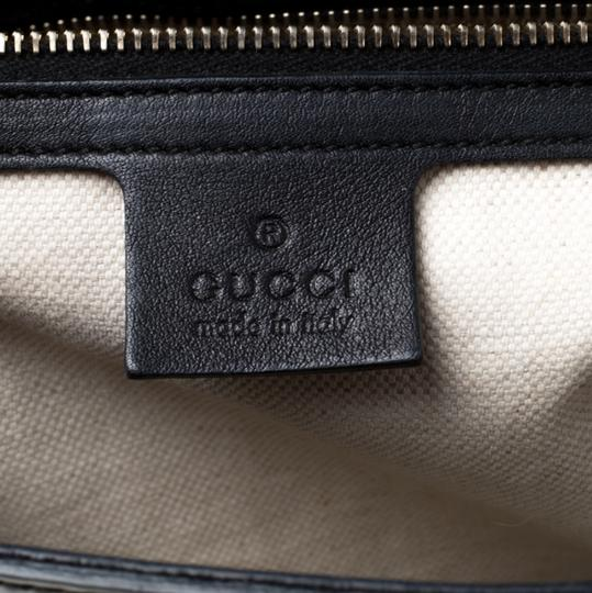 Gucci Patent Leather Canvas Shoulder Bag Image 9