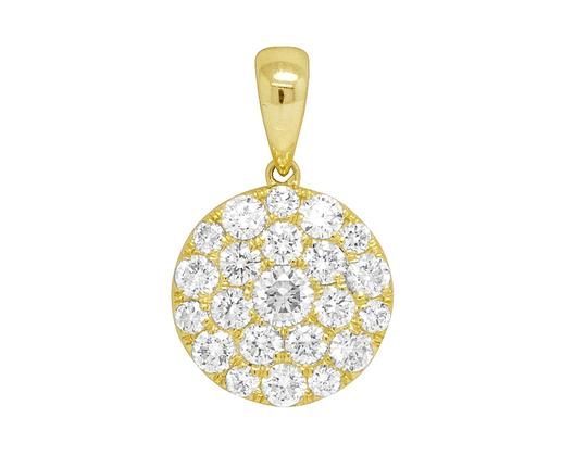 Preload https://img-static.tradesy.com/item/26156273/jewelry-unlimited-10k-yellow-gold-ladies-round-flower-cluster-pendant-set-08-136ct-charm-0-1-540-540.jpg