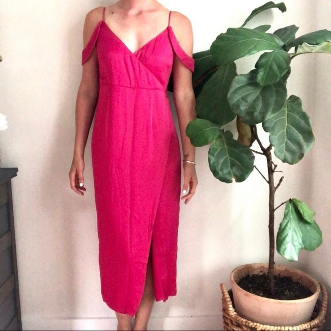 pink Maxi Dress by Bardot Image 1
