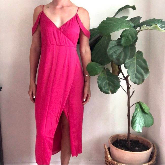 pink Maxi Dress by Bardot Image 2
