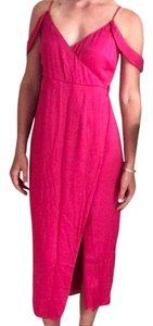 pink Maxi Dress by Bardot