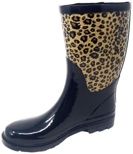 Preload https://img-static.tradesy.com/item/26156283/forever-young-black-and-leopard-rb-5516-women-s-mid-calf-rubber-rain-bootsbooties-size-us-10-regular-0-1-540-540.jpg