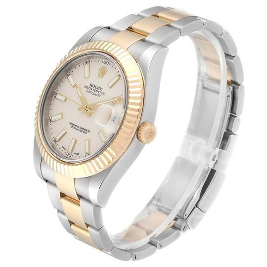 Rolex Rolex Datejust II Steel Yellow Gold Silver Dial Watch 116333 Box Card Image 3