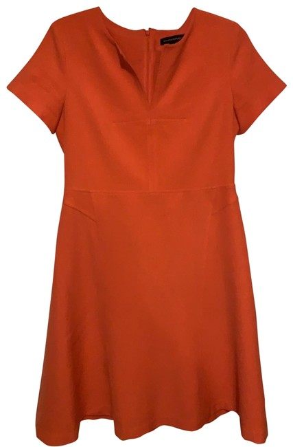 Item - Coral Fit and Flare Short Work/Office Dress Size 6 (S)