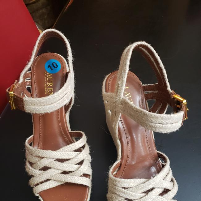 Item - Nautical Taupe Henna Wedges Size US 10 Regular (M, B)
