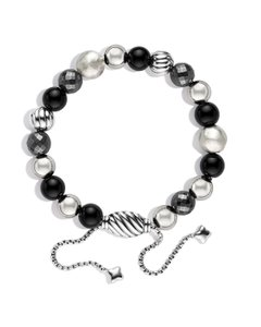 David Yurman Sterling silver David Yurman Elements Onyx bead bracelet
