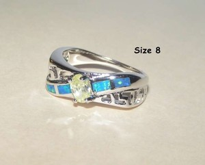 Opal & Topaz Fashion Ring Free Shipping