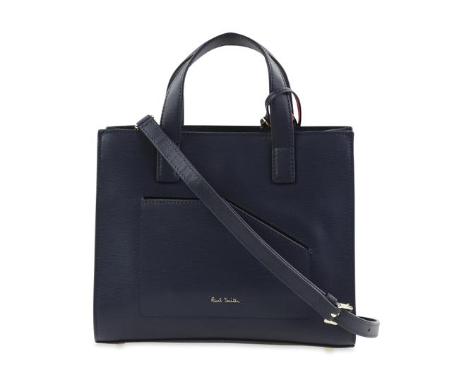 Paul Smith Square Blue Leather Satchel Paul Smith Square Blue Leather Satchel Image 1