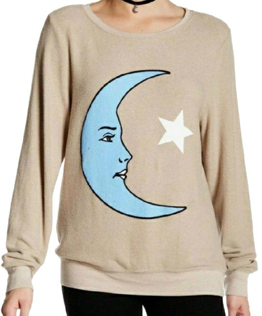 Item - Moon and Star Beige Blue Sweater