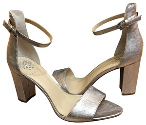 Vince Camuto rose/silver Mules