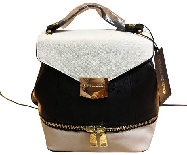 Item - Cute Take On A Black and Cream Leather Backpack