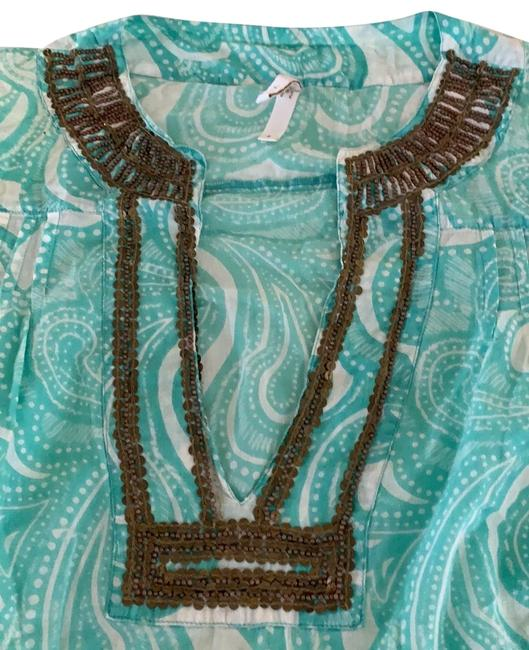 Item - Light Blue Rn 114215 Cover-up/Sarong Size 4 (S)