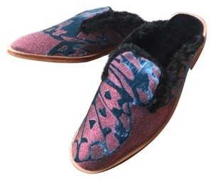 Free People Butterfly Effect New Pink Blue Mules