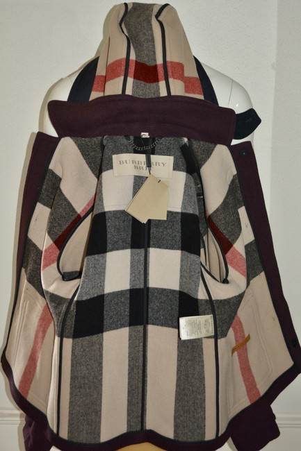 Burberry Jacket Wool Duffle Pea Coat Image 10