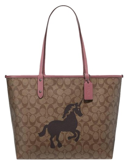 Preload https://img-static.tradesy.com/item/26159249/coach-city-reversible-in-signature-with-unicorn-motif-khaki-multi-coated-canvas-tote-0-1-540-540.jpg