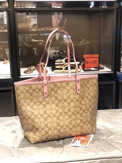 Coach Tote in Khaki Multi Image 5