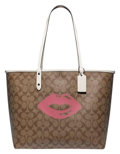 Preload https://img-static.tradesy.com/item/26159253/coach-city-reversible-in-signature-with-lips-motif-khaki-multi-coated-canvas-tote-0-1-540-540.jpg