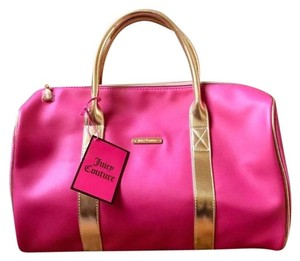 Juicy Couture Duffel Pink Gold Travel Bag