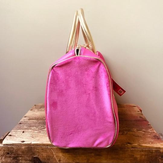 Juicy Couture Duffel Pink Gold Travel Bag Image 1