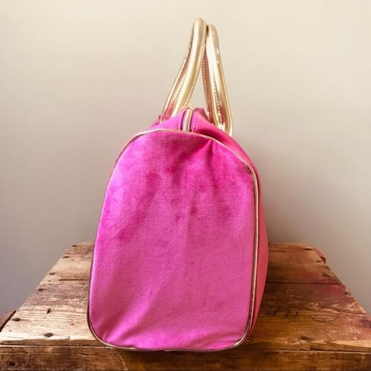 Juicy Couture Duffel Pink Gold Travel Bag Image 3