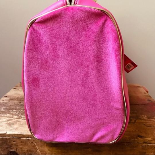 Juicy Couture Duffel Pink Gold Travel Bag Image 4