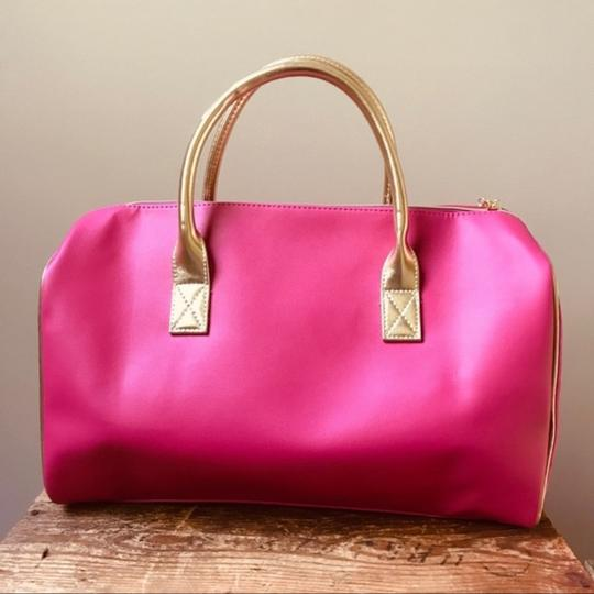 Juicy Couture Duffel Pink Gold Travel Bag Image 5