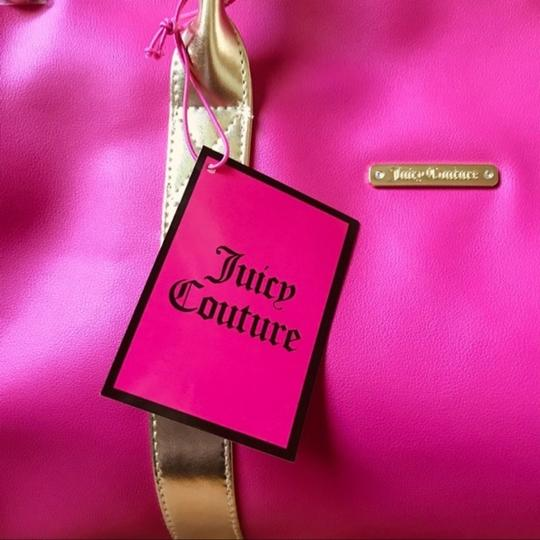 Juicy Couture Duffel Pink Gold Travel Bag Image 6