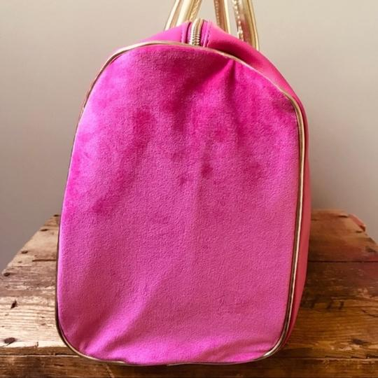 Juicy Couture Duffel Pink Gold Travel Bag Image 7