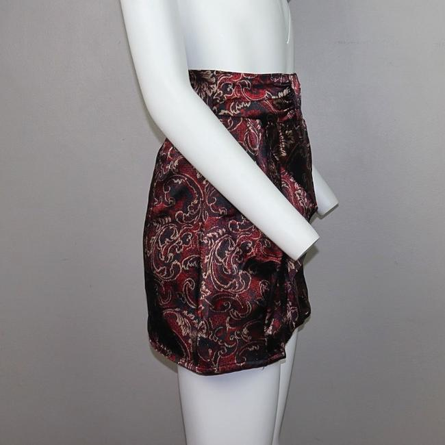 Alloy Apparel Mini Skirt Burgundy Image 1