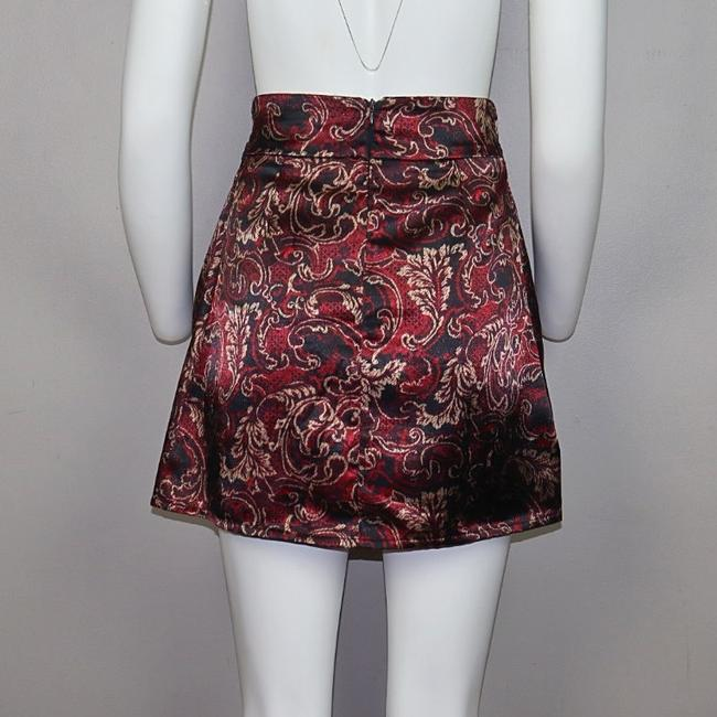 Alloy Apparel Mini Skirt Burgundy Image 2