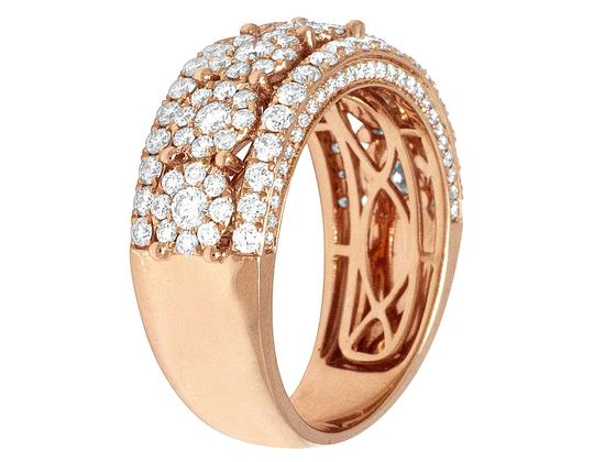 Jewelry Unlimited 14K Mens Rose Gold Flower Cluster Pinky Ring 9MM 2.52CT Image 2