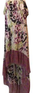 Multi Maxi Dress by Anthropologie Hi Lo Strapless