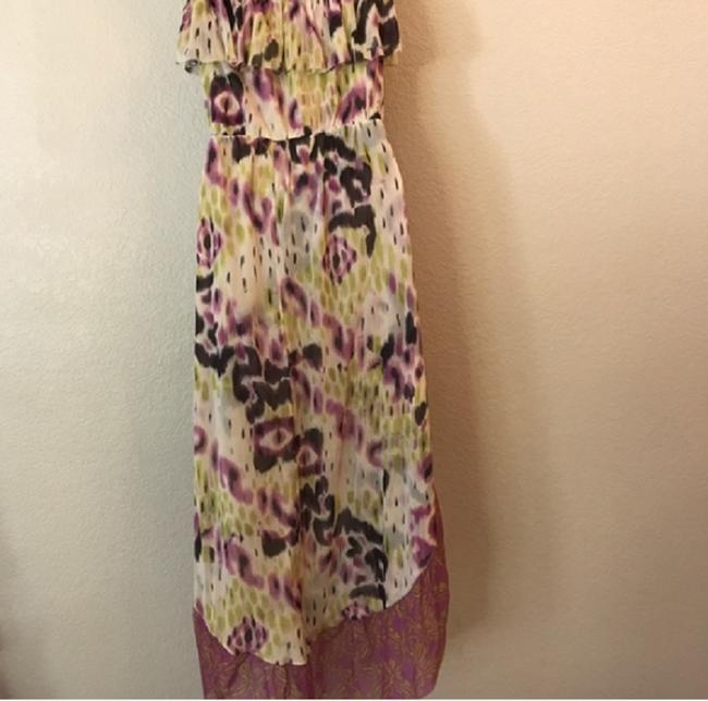 Multi Maxi Dress by Anthropologie Hi Lo Strapless Image 3