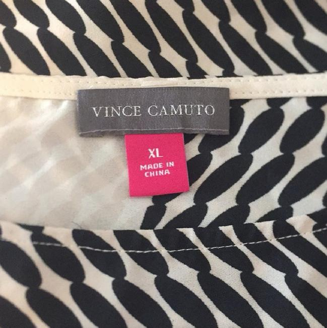 Vince Camuto Color-blocking Top Black/Tan Image 4