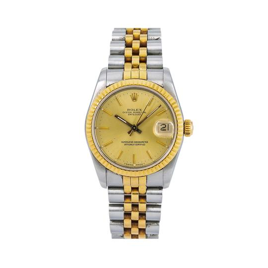 Rolex Rolex Lady-Datejust 68273 31MM Champagne Dial With Yellow Gold Jubilee Image 0