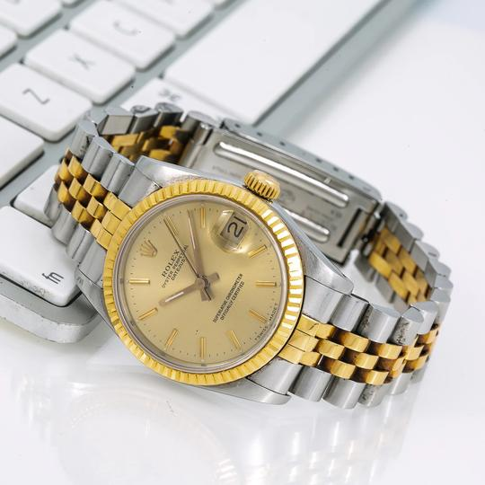 Rolex Rolex Lady-Datejust 68273 31MM Champagne Dial With Yellow Gold Jubilee Image 1