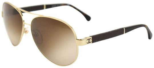 Preload https://img-static.tradesy.com/item/26159367/chanel-aviator-gold-metal-and-quilted-leather-cc-logo-fj-sunglasses-0-1-540-540.jpg