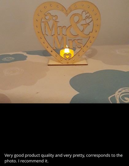 Wooden Ornaments Led Light Bridal Mr Mrs Table Party Centerpiece Image 2